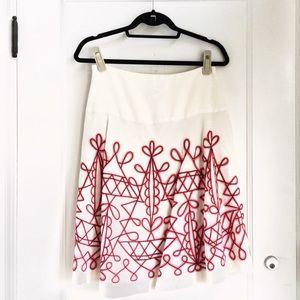 Folkloric boho embellished skirt